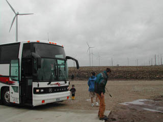 windfarm & bus