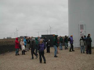 people at windfarm