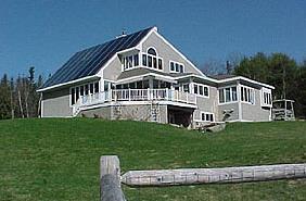 Maine solar house